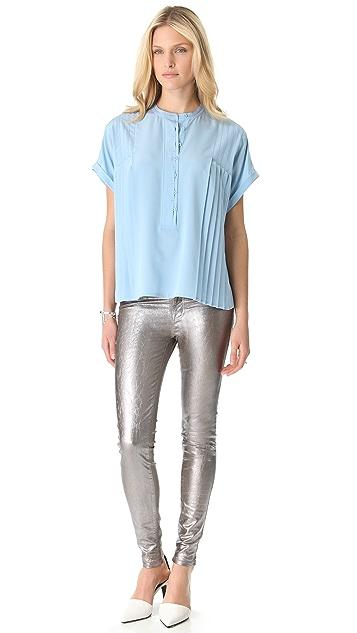 Diane von Furstenberg Hadley Short Sleeve Blouse
