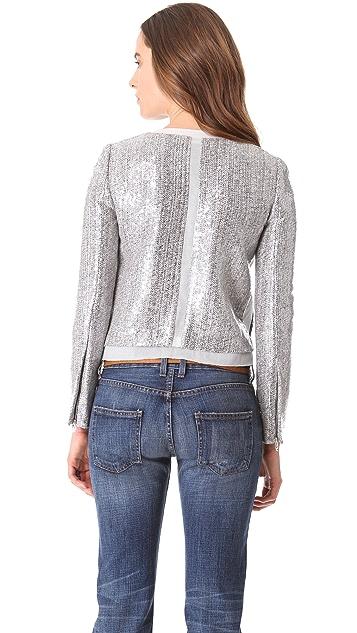 Diane von Furstenberg Tamali Crystal Tweed Jacket