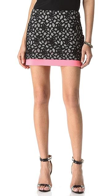 Diane von Furstenberg Elley Lace Miniskirt