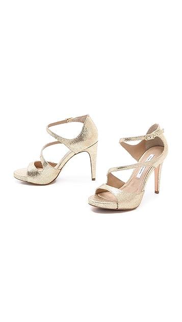 Diane von Furstenberg Jujette Asymmetrical Sandals