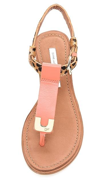 Diane von Furstenberg Dion Demi Wedge Sandals