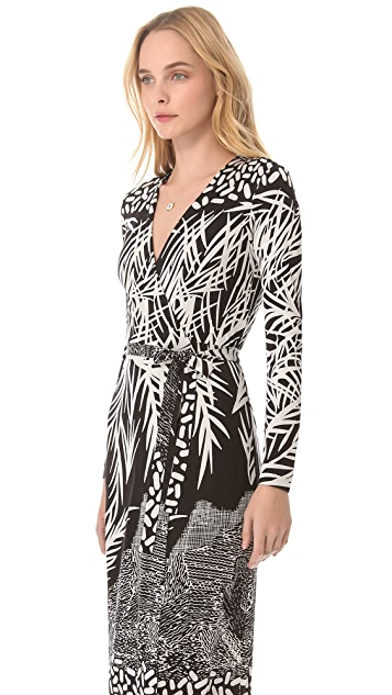 Diane von Furstenberg Georgina Maxi Wrap Dress