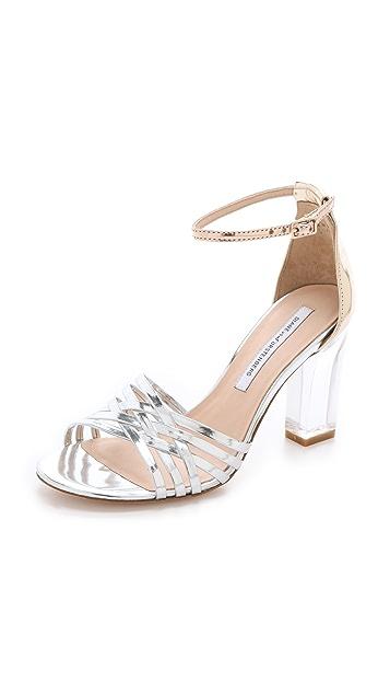 Diane von Furstenberg Priene Sandals with Lucite Heel