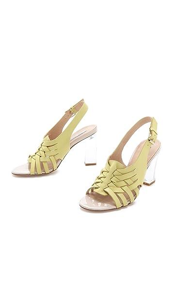 Diane von Furstenberg Taite Lucite Heel Sandals