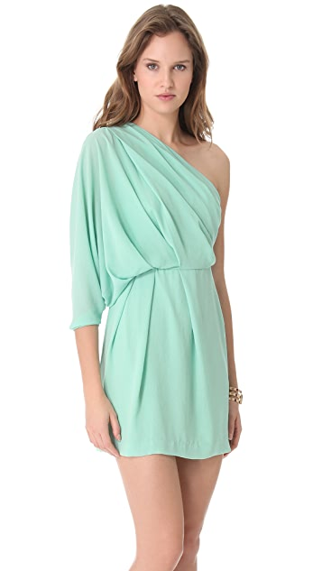 Diane von Furstenberg Akela One Shoulder Dress