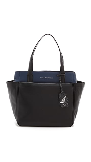 Diane von Furstenberg On the Go Colorblock Tote