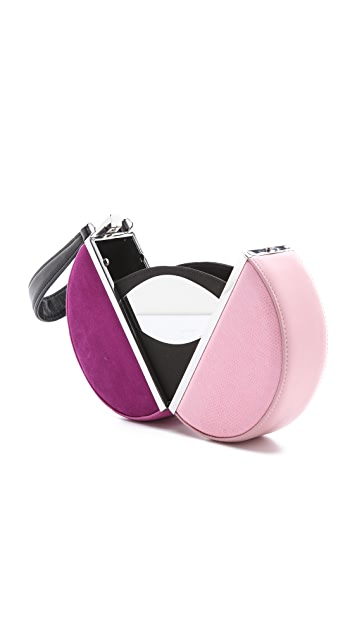 Diane von Furstenberg Circle Box Colorblock Clutch