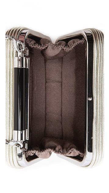 Diane von Furstenberg Tonda Passamentry Metallic Clutch
