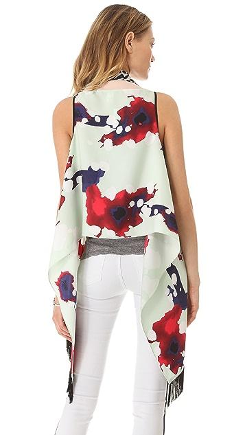 Diane von Furstenberg Serape Scarf Vest
