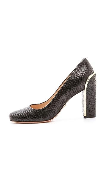 Diane von Furstenberg Gaby Chunky Heel Pumps