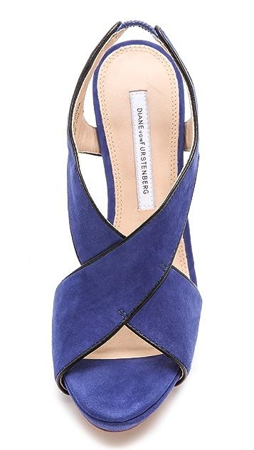 Diane von Furstenberg Julia Crisscross Sandals