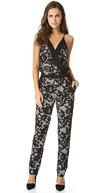 ee4623e09f83 Diane von Furstenberg Shany Abstract Floral Lace Jumpsuit