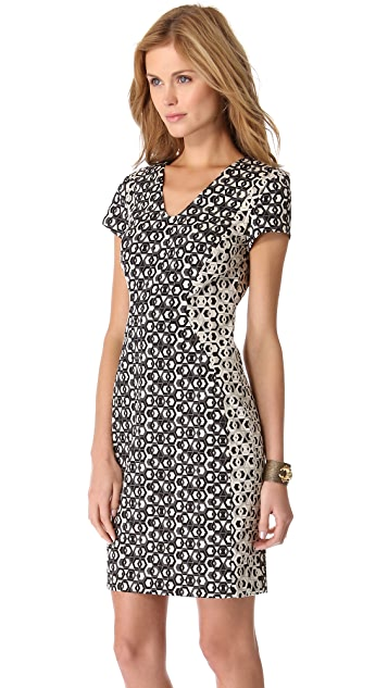 Diane von Furstenberg Dayton Hex Maze Dress