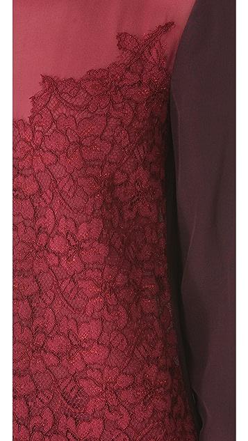 Diane von Furstenberg Branwen Lace Combo Blouse