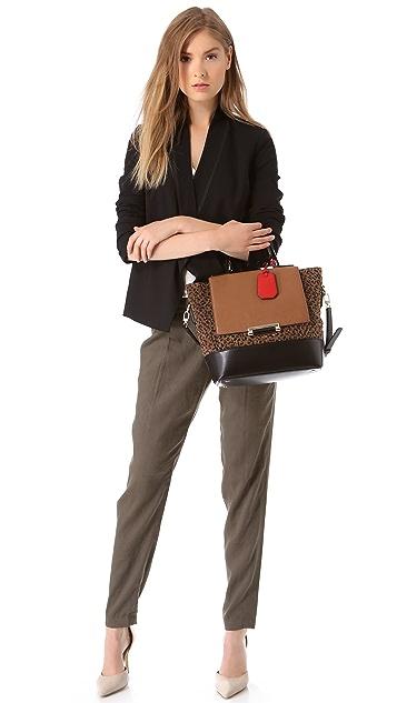 Diane von Furstenberg 440 Leopard Jacquard Bag