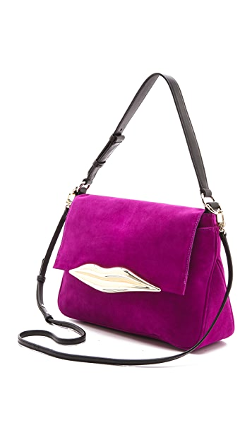Diane von Furstenberg Flirty Suede Shoulder Bag