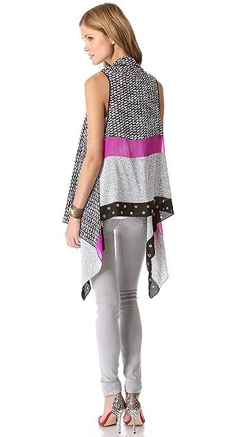 Diane von Furstenberg Serape Grommet Scarf Vest