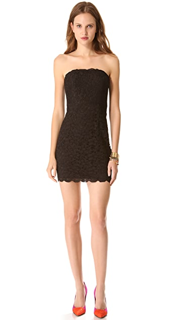 Diane von Furstenberg Walker Lace Strapless Dress