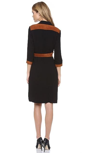 Diane von Furstenberg Jacki Dress with Suede Trim