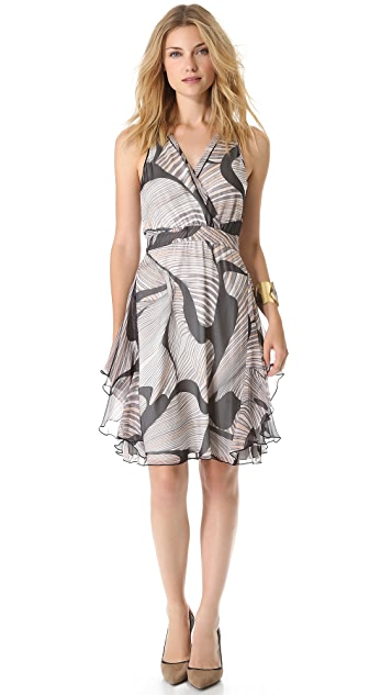 Diane von Furstenberg Nydia Chiffon Slit Back Dress