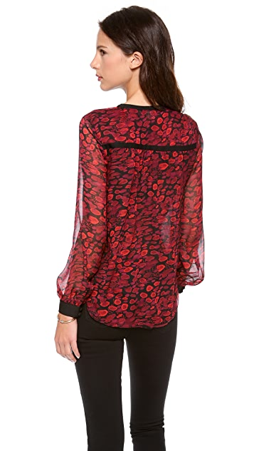 Diane von Furstenberg Lane Printed Top