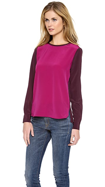 Diane von Furstenberg Louise Long Sleeve Top