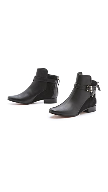 Diane von Furstenberg Keith Haircalf Flat Booties