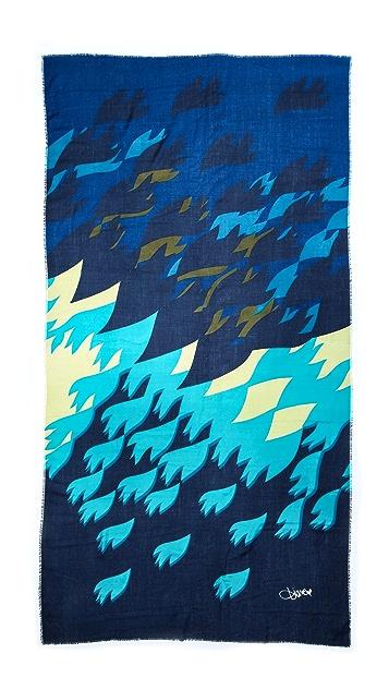Diane von Furstenberg Bird Maze Heavy Scarf
