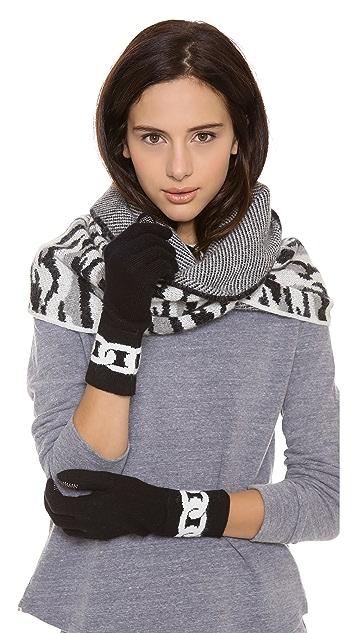 Diane von Furstenberg Dollie Chain Link Gloves
