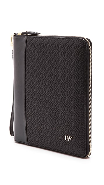 Diane von Furstenberg Chain Link Quilted Leather iPad Mini Case