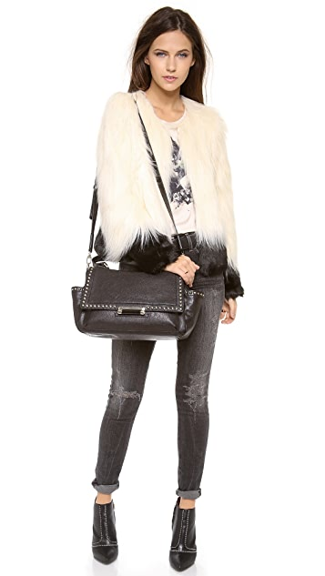 Diane von Furstenberg Highline Studded Courier Bag