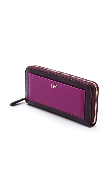 Diane von Furstenberg Voyage Zip Around Wallet