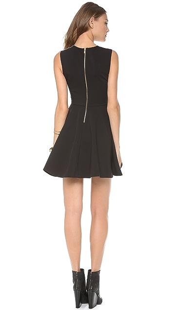 Diane von Furstenberg Jeannie Two Leather Dress