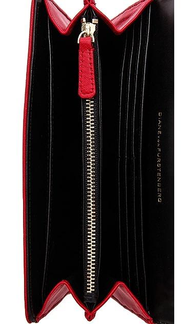 Diane von Furstenberg Lips Flap Wallet