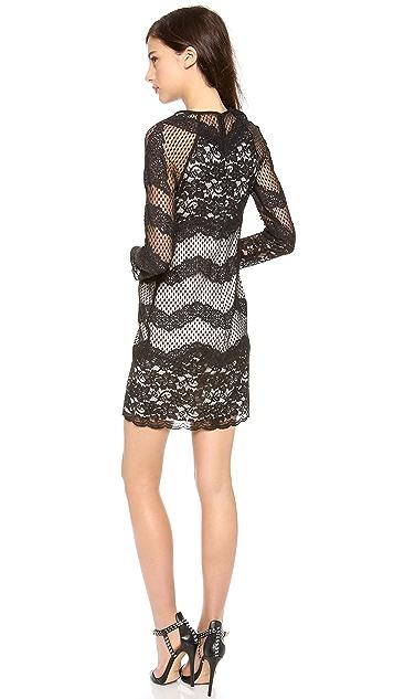 Diane von Furstenberg Violet Lace Combo Dress