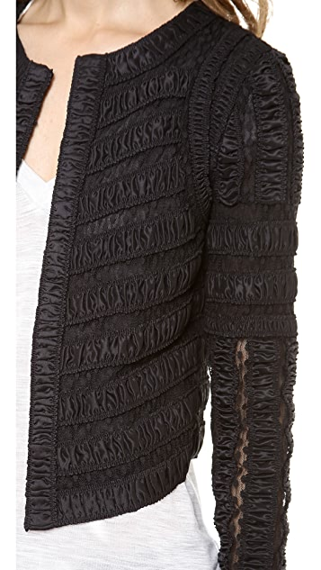 Diane von Furstenberg Matilda Lace Combo Jacket