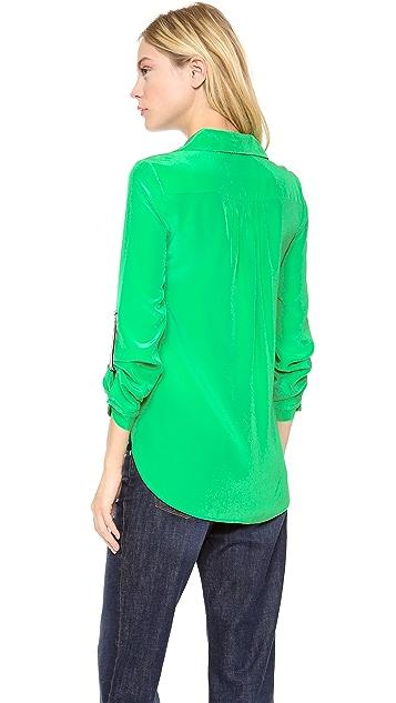 Diane von Furstenberg Lorelei Contrast Collar Top