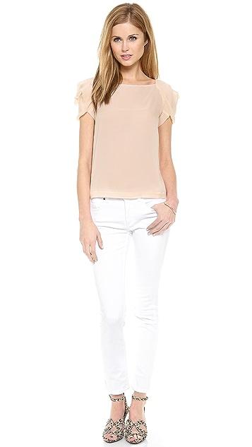 Diane von Furstenberg Cassandra Petal Sleeve Top