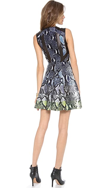 Diane von Furstenberg Ida Leather Combo Dress