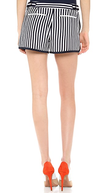 Diane von Furstenberg Tiffany Striped Shorts