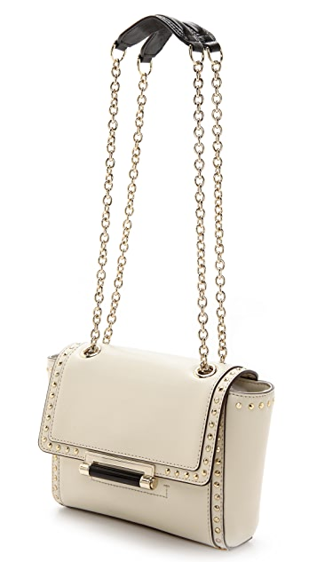 Diane von Furstenberg 440 Mini Faceted Studded Shoulder Bag