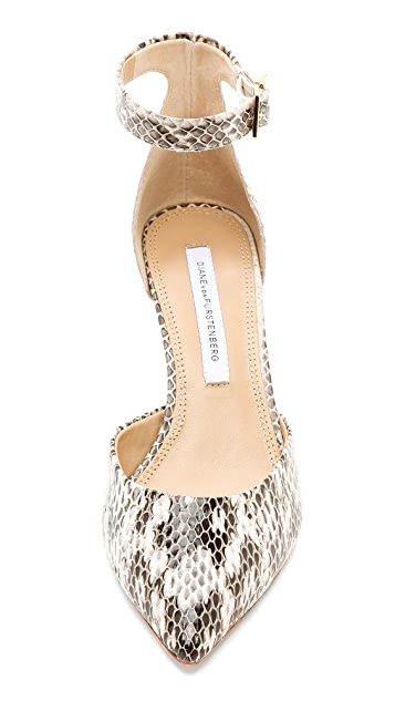 Diane von Furstenberg Pretty Pointy Toe Wedge Pumps