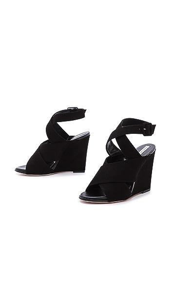 Diane von Furstenberg Wynne Wedge Sandals