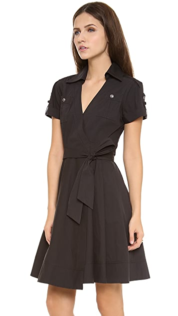 Diane von Furstenberg Kaley Collared Wrap Dress