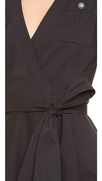Diane von Furstenberg Kaley Collared Wrap Dress