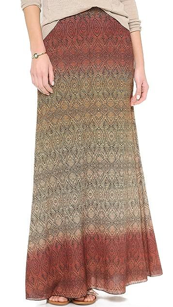 Diane von Furstenberg Cody Crinkle Maxi Skirt