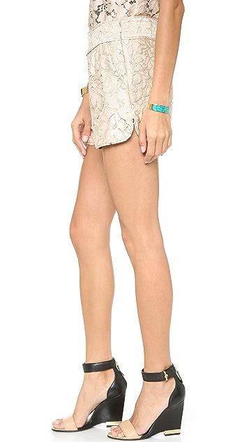 Diane von Furstenberg Madonna Lace Shorts