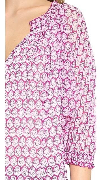 Diane von Furstenberg Bryn Printed Top