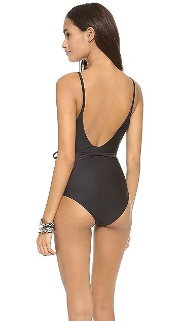 Diane von Furstenberg Wrap One Piece Bathing Suit