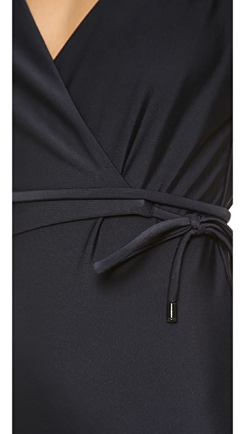 Diane von Furstenberg Wrap One Piece Bathing Suit